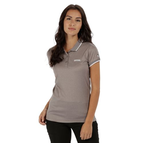 Regatta WOMEN'S REMEX POLYESTER POLO SHIRT - Rock Grey